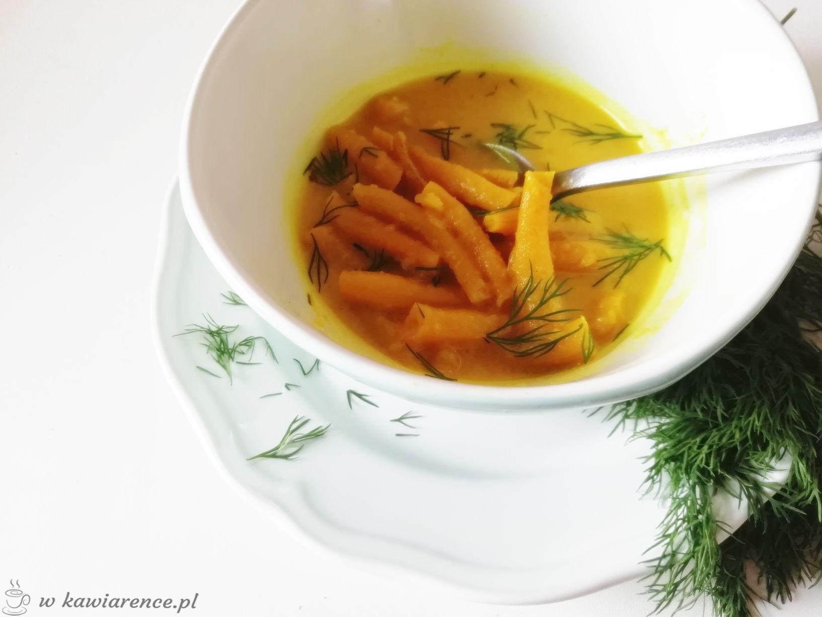 zupa z cukinii fasolki szparagowej warzywna