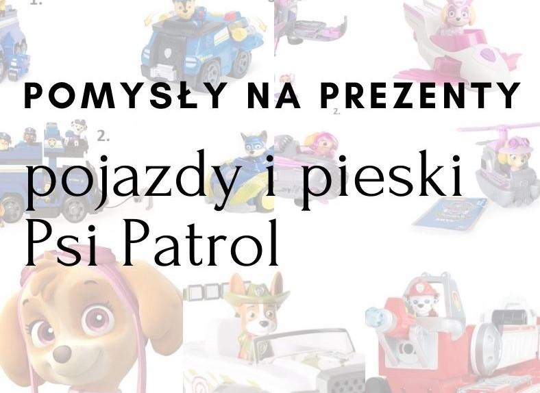 PREZENT POJAZDY PIESKI PSI PATROL FLIP AND FLAY