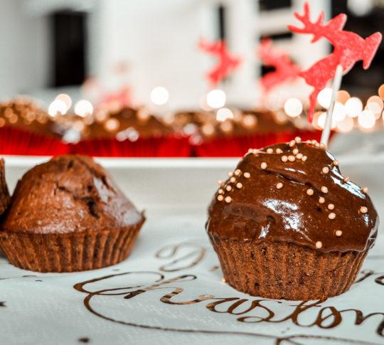czekoladowe babeczki z kremem