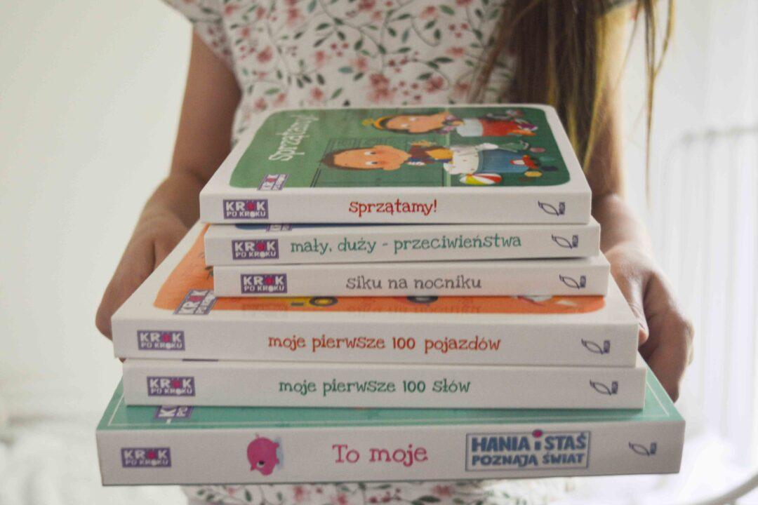 Top lista książek dla dzieci 0-3+ lat - perełki - ksiązki dla dzieci 0 - 3 lat seria Krok po Kroku