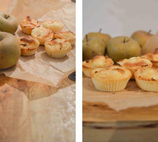 Puszyste muffiny z jabłkami jako pomysł na podwieczorek, zdrowa przekąska i drugie śniadanie do szkoły - muffinki z owocami - lekkie, mokre ciasto